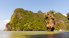 Summer day james bond island panorama 4k time lapse thailand Stock Footage