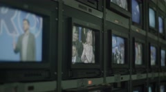 A lot of TV monitors - stock footage