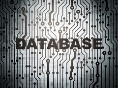 Software concept: circuit board with Database - stock illustration