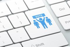 Political concept: Election Campaign on computer keyboard background - stock illustration