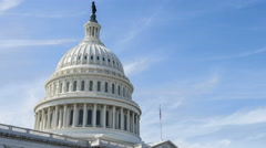 Time lapse video of the US Capitol building in Washington DC. Stock Footage