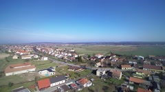 Aerial view of village - stock footage