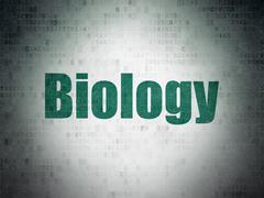 Science concept: Biology on Digital Paper background Stock Illustration