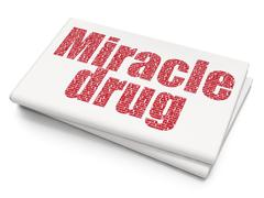 Health concept: Miracle Drug on Blank Newspaper background - stock illustration
