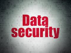 Safety concept: Data Security on Digital Paper background Piirros
