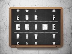 Privacy concept: Crime in Crossword Puzzle - stock illustration