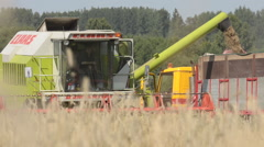 Cereal harvesting and storage Stock Footage
