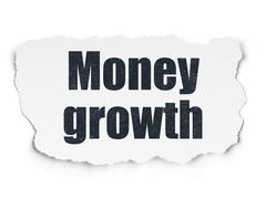 Banking concept: Money Growth on Torn Paper background - stock illustration