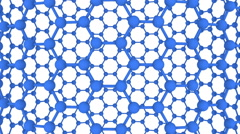 Connected Spheres Hexagon Loop Full HD 3d Stock Footage