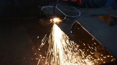 Spark welding - stock footage