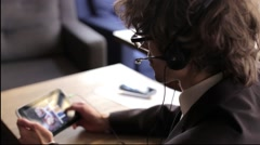 Call Center Operator with the Tablet - stock footage