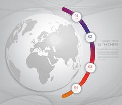 Modern infographic design with  world map - stock illustration
