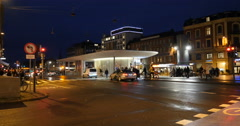 Norreport St. Metro Bus Station Stock Footage