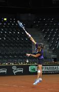 Tennis player Alexandra Dulgheru training before a match - stock photo
