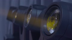 Lights in the Studio during the show (close-up) Stock Footage