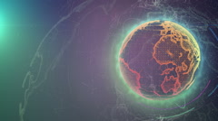 Wireframe Globe. loops seamlessly. Plexus Abstract Background, Slow Rotating - stock footage