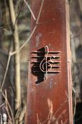 Iron treble clef Stock Photos