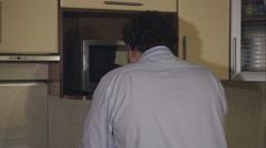Depressed businessman drunk at home. Stock Footage