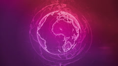 Wireframe Globe. loops seamlessly. Plexus Abstract Background, Slow Rotating Stock Footage