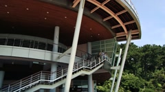 APEC building at the Dongbaekseom island in Busan, Korea. Stock Footage