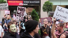 Protest in San Francisco Stock Footage