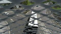 Vehicles Driven,Under Pedistrian Bridge - stock footage
