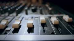 Mixing Board Faders Stock Footage