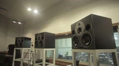 Big Black Loudspeakers Stock Footage