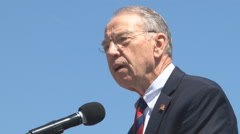 U.S. Senator Grassley from Iowa Stock Footage