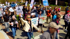 Democracy Spring rally and protest in Washington, D.C.  - stock footage