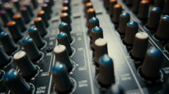 Mixing Board Knobs - stock footage
