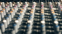Mixing Board Pan Knobs - stock footage