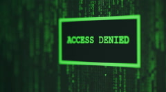 Access Denied - Computer System Stock Footage