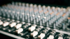 Mixing Board Slider - stock footage