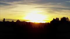 Canada sunset Kootenay Mountain Range - stock footage