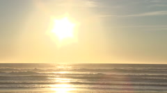 30 Seconds Of Sunset Waves Stock Footage