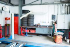 Auto repair garage Stock Photos