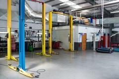 Auto repair garage Stock Photos