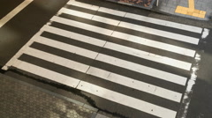Time lapse of pedestrian crossing Stock Footage