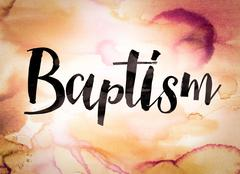 Baptism Concept Watercolor Theme - stock illustration