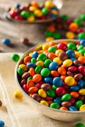 Rainbow Colorful Candy Coated Chocolate - stock photo