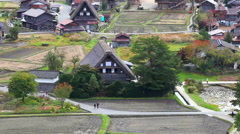 The old house in The world heritage Shirakawa-go, Japan Stock Footage