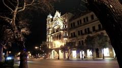 Ambulance passing at night in Baku, Azerbaijan - stock footage