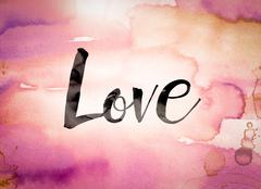 Love Concept Watercolor Theme - stock illustration