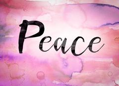 Peace Concept Watercolor Theme Piirros