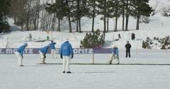Cricket on ice batting Stock Footage
