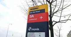 Bus stop in Copenhagen Stock Footage