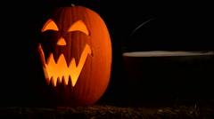 Halloween Jack o Lantern - stock footage