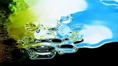 Flowing Fluid Abstraction Stock Illustration
