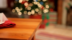 Cookies and milk for Santa Stock Footage